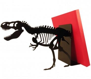 Grand serre-livres métal noir Tyrannosaure rex
