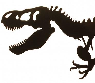 Grand presse-livres déco métal noir dinosaure T-rex