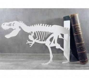 Grand serre-livres blanc design squelette dinosaure T-rex