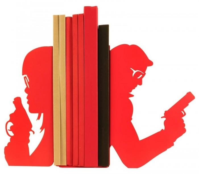 Paire de grands serre-livres Action