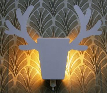 lampe murale lumineuse Le Renne blanc