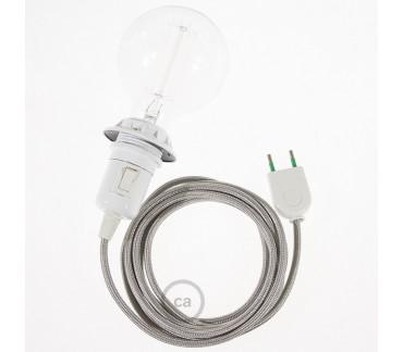 Câble équipé couleur argent pour applique Le Renne