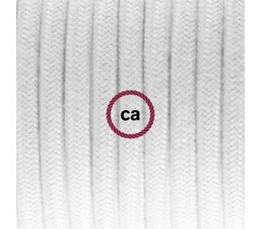 Câble équipé textile blanc pour applique murale  Le Renne
