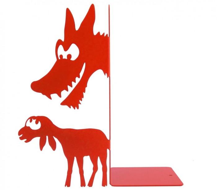 Serre-livres fable Le loup et l'agneau