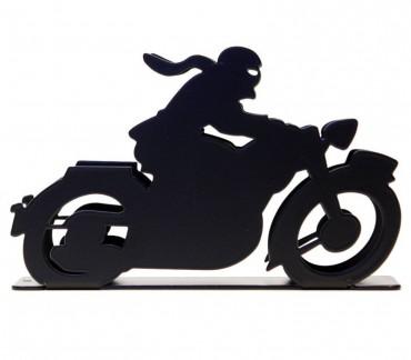 """Porte-courrier déco noire """"Motocyclette"""""""