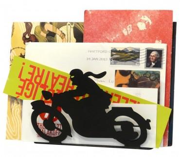 """Porte-lettre style vintage """"Motocyclette"""" noire"""