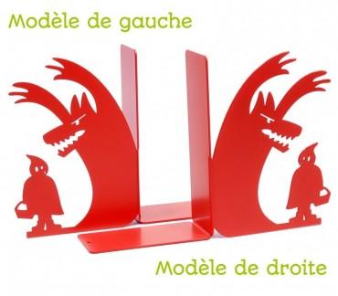 """Cale-livres déco Petit chaperon rouge """"Au loup"""""""