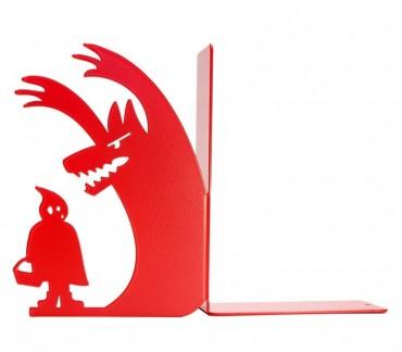 """Presse-livres déco Petit chaperon rouge """"Au loup"""""""