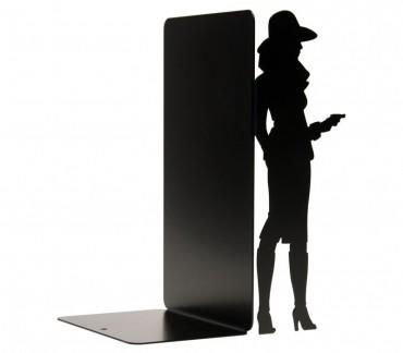 """Grand cale-BD figurine """"Bourgeoise"""" déco noire"""