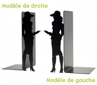 """Grand bloc-BD figurine """"Bourgeoise"""" déco noire"""