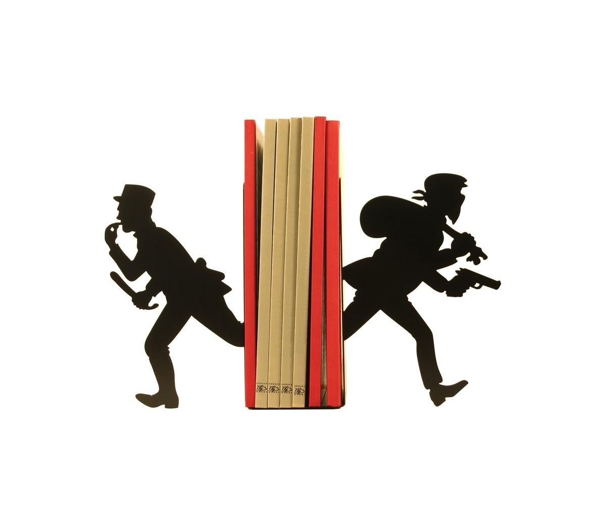 La paire de serre-livres Gendarme et Voleur de Shohan-design est ...