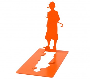 Serre-livres modèle ombre orange