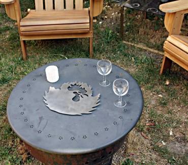 Dessous de plat inox brossé art de la table Coq