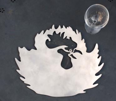 Dessous de plat Coq décoration table