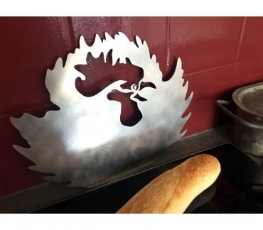 Dessous de plat inox brossé Coq
