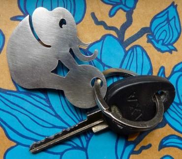 Original brushed metal keyring
