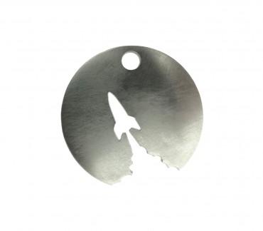 Original brushed stainless steel keyring made in France