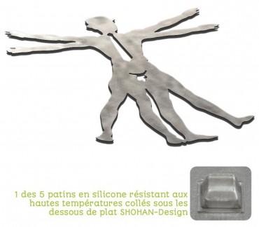 """sous plat insolite en acier inoxydable """"Hommage à Vinci"""""""