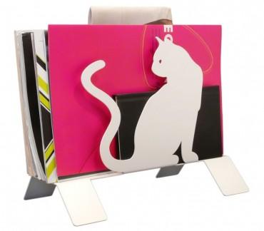 "Original range-magazines blanc ""Les chats"""