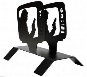"""Porte-revues design métal noir """"TV"""""""